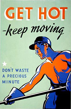 [Get Hot - Keep Moving, Don't Waste a Precious Minute graphic]